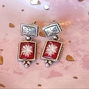 Retired Brighton Red Water Lily earrings